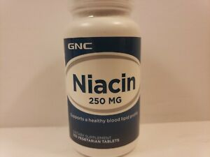 GNC Niacin Vegetarian Dietary Supplement 250 mg 100 Tablets - Exp 05/21