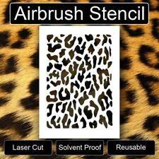 """CHEETAH LEOPARD Safari Reusable Airbrush Stencil Template 11""""x8.5"""" Free Shipping"""