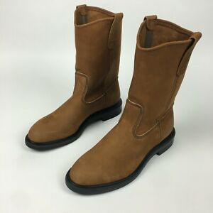 """NEW Red Wing Pecos BOOTS 11"""" SOFT TOE PULL ON Oiled Nubuck Mens Sz 10 D"""