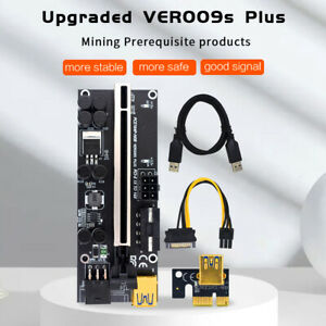 VER009S Plus PCIe Riser Card USB 3.0 Cable PCI-E Express 1x to 16x Extender