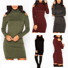 Maglione Lungo Vestito Mini Donna Woman Maxi Sweater Mini Dress 110339 P