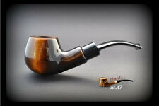 HAND MADE WOODEN SMOKING PIPE for TOBACCO  no 47  Brown + Filter