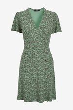 NEXT Green Elephant Print Stretch Wrap Dress Size 12 BNWT Workwear Holiday Party