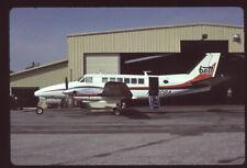 Orig 35mm airline slide Britt Airways Beech 99 N320BA [0092]