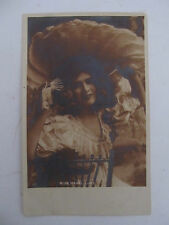 Antique UK PHOTO postcard Glamour Lady Miss Mabel Love unused