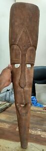 Old Wooden African Mask Big Hand Carved Unique Face Mask Head Collectible Deco