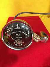 AIRGUIDE Motorcycle Tachometer Model 671-A from 1966 extremely RARE