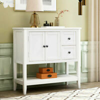 Console Table Sideboard Table Sofa Table Buffet Cabinet w/ Drawers&Bottom Shelf