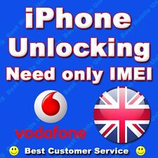 VODAFONE iPhone UK 7 / 7 + PLUS 100% permanente FACTORY Unlock IMEI PULITI solo