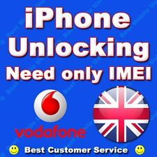 iPhone 4 4s 5 5s 6s 7 7+ VODAFONE UK Factory & Permanent Unlocking