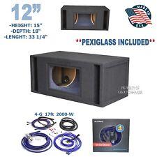 "12"" Dual Bandpass ported sub box / subwoofer enclosure Ground-shaker + Amp kit"