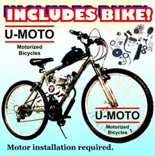 Diy 2-Stroke 48cc/66cc/80cc Motorized Bicycle Kit With Mountain Bike
