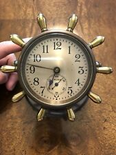 Chelsea Clinton Miniature Desktop Ship'S Clock- Rare