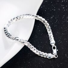 HOT! Silver Plated Snake Chain Bangle Charm Bracelet Jewelry For Women Men 5MM