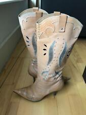 Vic Matie Leather Cowboy Boots. Size 4.5.