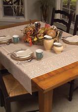 """Heritage Lace Cafe 58""""x58""""  OAK LEAF Table Topper - Oak Leaves & Acorns Border"""