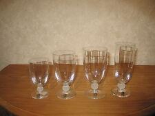 BOUSSU *NEW* CHRISTIANE BOUTON SATINE Set 4 Verres Glasses