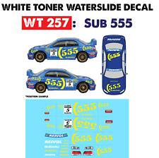 WT257 White Toner Waterslide Decals > SUB 555 >For Custom 1:64 Hot Wheels