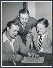 "1945 Les Horvath, Heisman Trophy Winner ""Signs NFL Contract"" Vintage Photo"