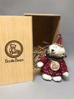 """Rare Collectible 6"""" Bonita Bear J.J. Clown Original Box Tag COA Limited Edition"""