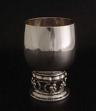 VINTAGE GEORG JENSEN 296B STERLING SILVER WINE GOBLET CUP GRAPE SUPERB CONDITION
