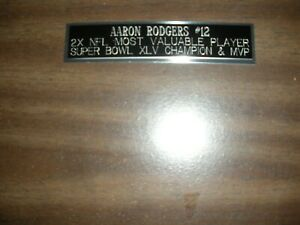 AARON RODGERS (PACKERS) ENGRAVED NAMEPLATE FOR PHOTO/DISPLAY/POSTER