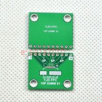 2pcs FFC FPC 6/8/10 Pin 0.5mm SMD to DIP 2.54mm Adapter PCB Board Converter F26