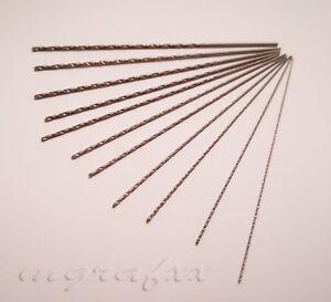 1x extra long ( 100mm ) micro mini metric HSS drill bits 0.9mm -1.5mm drills