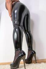 Lack Leggings wet look vinyl Röhre Nassglanz Shiny Gothik M L XL Neu