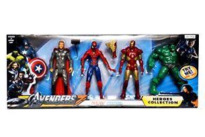 Avengers Action Figures Setof5 Hulk Captain america Wolverine ironman spiderman