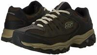 Skechers Mens Memory Fit 50125 Low Top Lace Up Running, Brown/Taupe, Size 8.5 mP
