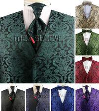 Men's Design V-neck Formal wear wedding paisley Waistcoat set 3pcs