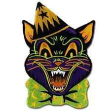 Cracy Cat Patch Embroidered Iron On Jacket Applique Retro Scary Halloween Feline