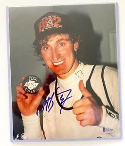 Wayne Gretzky Signed Edmonton Oilers 8x10 Photo Beckett BAS COA Kings Rangers AU