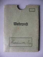 Original-Hülle para Wehrpass Envoltura de Cartón Ejército Wkii