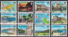 ALDERNEY 1983 Island Scenes Definitives 1p-18p SG A1/12 USED MAP BOATS BIRD GOLF