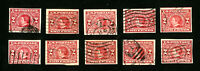 US Stamp # 371 F-VF Lot of 10 Used Catalogue Value $210.00