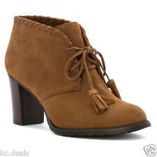 9B Lauren Ralph Lauren Carla Moccasin Sport Suede Shooties Shoes Ret $129 New