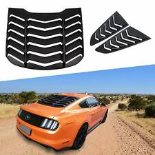 ABS Rear Window Louver & Quarter Side Scoop Louvers For Ford Mustang 2015-2020