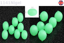 Luminous Glow in the Dark Oval Rig Beads 5mm Lumi Lure Making UK Seller