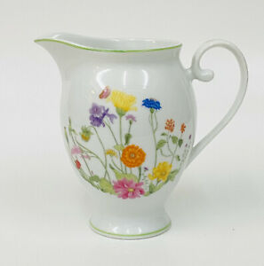 Vintage Denby Fine China WONDERLAND Wild Flowers Creamer Portugal HTF