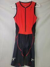 Sugoi Mens Large Triathlon Suit Black Sleeveless Trisuit Skinsuit Cycling Swim M