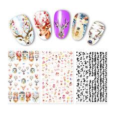 Pegatinas 3D uñas tira de animales de encaje Adhesivo Decoración Puntas calcomanías de transferencia de Arte en Uñas