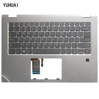 For Lenovo Yoga 520-14 YOGA 520-14IKB YOGA520-14IKB Silver US Keyboard Palmrest