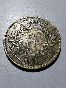 Old Coin: 1921 Tunisia 1 Franc #3