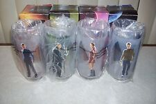 SET OF 4 STAR TREK COLLECTIBLE GLASSES - 2008 PARAMOUNT PICTURES CORP.