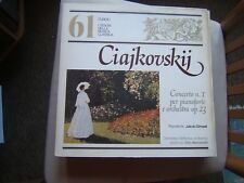 I TESORI DELLLA MUSICA CLASSICA=N°61=CIAJKOVSKIJ=CONCERTO N.1 PER PIANOF. E ORC=