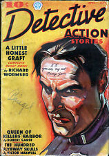 DETECTIVE ACTION STORIES PULP MAGAZINE April - May, 1937