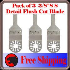 "3pc 3/8"" SS Detail Oscillating Multi Tool Saw Blade For Bosch Dremel Multi- max"