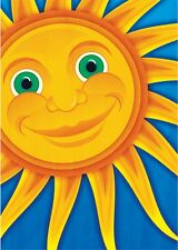 NEW LARGE TOLAND HOUSE FLAG SMILING SUN FUN & COLORFUL SUMMER FLAG 28 X 40